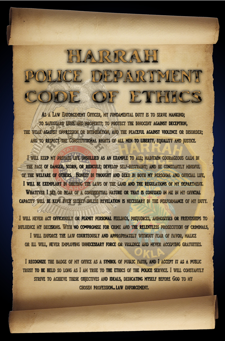 pd ethics The importance of a high ethical standard in police work is impressed upon aspiring officers from the very first days of the police academy agencies have several ways to promote ethics among their ranks.